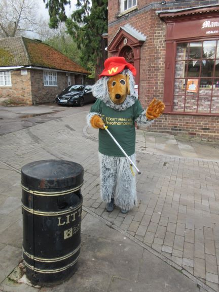 Don't Mess with Wheathampstead - our team of Wombles litter picking