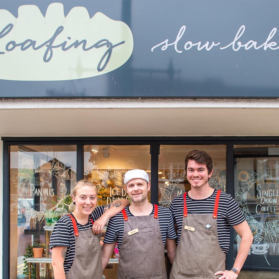 The team from Loafing Bakers Wheathampstead - promoting our Buy It Locally campaign
