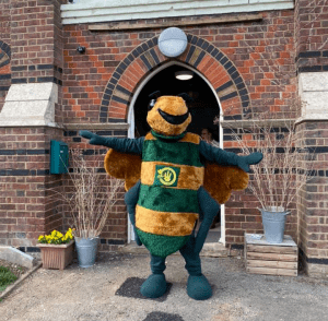 Billy Bee at The Chapel Gym Wheathampstead - promoting our Buy It Locally campaign