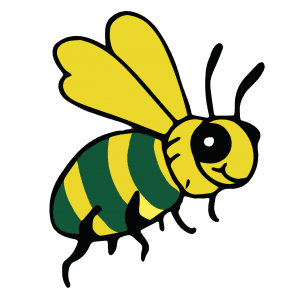 Billy the Bee - he is our Wheathampstead mascot - encouraging people to Buy It Locally
